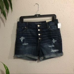 NWT Distressed High Rise Jean shorts